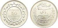 50 Centimes 1334 AH Tunesien Französisches...