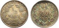 1/2 Mark 1906  D Kleinmünzen  Polierte Platte