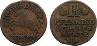 Cu 1 1/2 Pfennig 1703 Braunschweig-Lünebur...