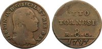 Cu 8 Tornesi 1797  P Italien-Neapel und Sizilien Ferdinand IV. 1759-179... 25,00 EUR  +  4,50 EUR shipping