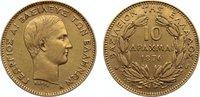 10 Drachmen 1876  A Griechenland George I. 1863-1913. Gold, sehr schön +  775,00 EUR free shipping