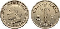 5 Francs 1941 Frankreich État Francais 1940-1944. kl. Flecken, vorzügli... 325,00 EUR  +  4,50 EUR shipping