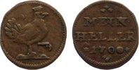 Cu Heller 1700 Sachsen-Meiningen Bernhard 1680-1706. selten, sehr schön  50,00 EUR  +  4,50 EUR shipping