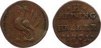 Cu Heller 1701 Sachsen-Meiningen Bernhard 1680-1706. leicht gewellt, se... 30,00 EUR  +  4,50 EUR shipping