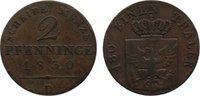 Cu 2 Pfennig 1830  D Brandenburg-Preußen Friedrich Wilhelm III. 1797-18... 25,00 EUR  +  4,50 EUR shipping