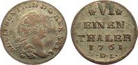 1/6 Taler 1761  DL Pommern-unter schwedischer Besetzung Adolph Friedric... 60,00 EUR  +  4,50 EUR shipping