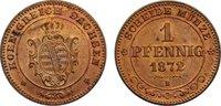 Cu 1 Pfennig 1872  B Sachsen-Albertinische...