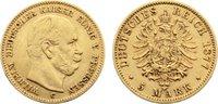 5 Mark 1877  C Preußen Wilhelm I. 1861-188...
