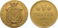 5 Taler 1825 Braunschweig-Wolfenbüttel Karl 1815-1830. Gold, selten, le... 1200,00 EUR free shipping