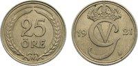 25 Öre 1 1921 Schweden Gustav V. 1907-1950. fast vorzüglich  15,00 EUR  +  1,50 EUR shipping