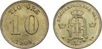 10 Öre 1 1904  EB Schweden Oskar II. 1872-...