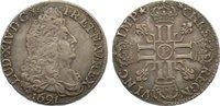 1/2 Écu aux 8L 1 1691  P Frankreich Ludwig...