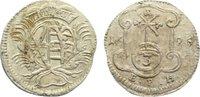 3 Pfennig 1695 Sachsen-Albertinische Linie...