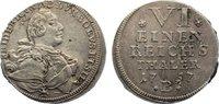 1/6 Taler 1757  B Brandenburg-Bayreuth Fri...