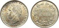 100 Reis 1889 Portugal Luis I. 1861-1889. ...