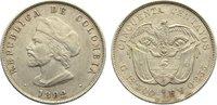 50 Centavos 1892 Kolumbien Republik seit 1...