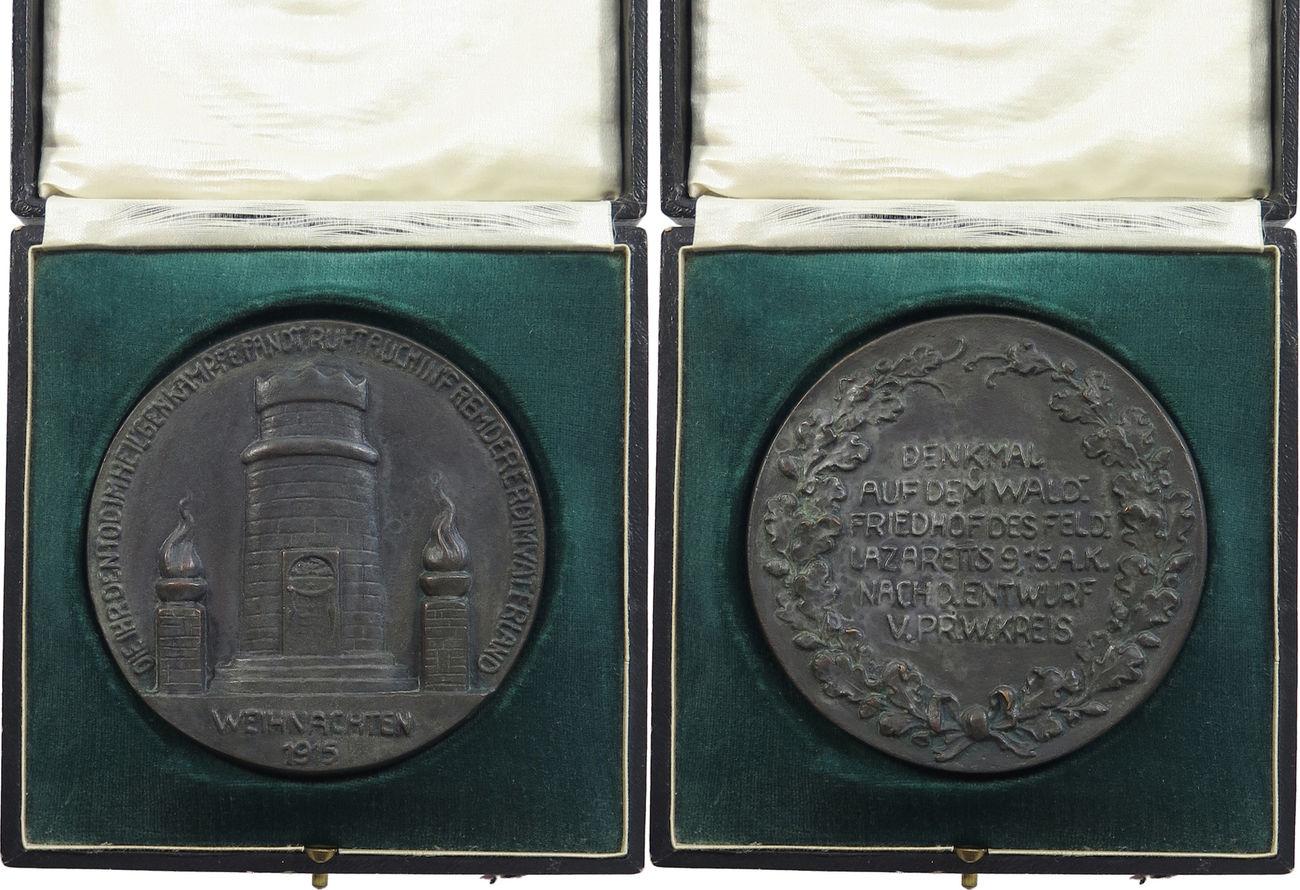 medaille 1915 erster weltkrieg friedhof lazaret. Black Bedroom Furniture Sets. Home Design Ideas