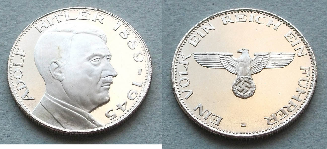 Drittes Reich Adolf Hitler 1889 1945 Proof Medaille Moderne Prägung F Bu Ms65 70 Ma Shops