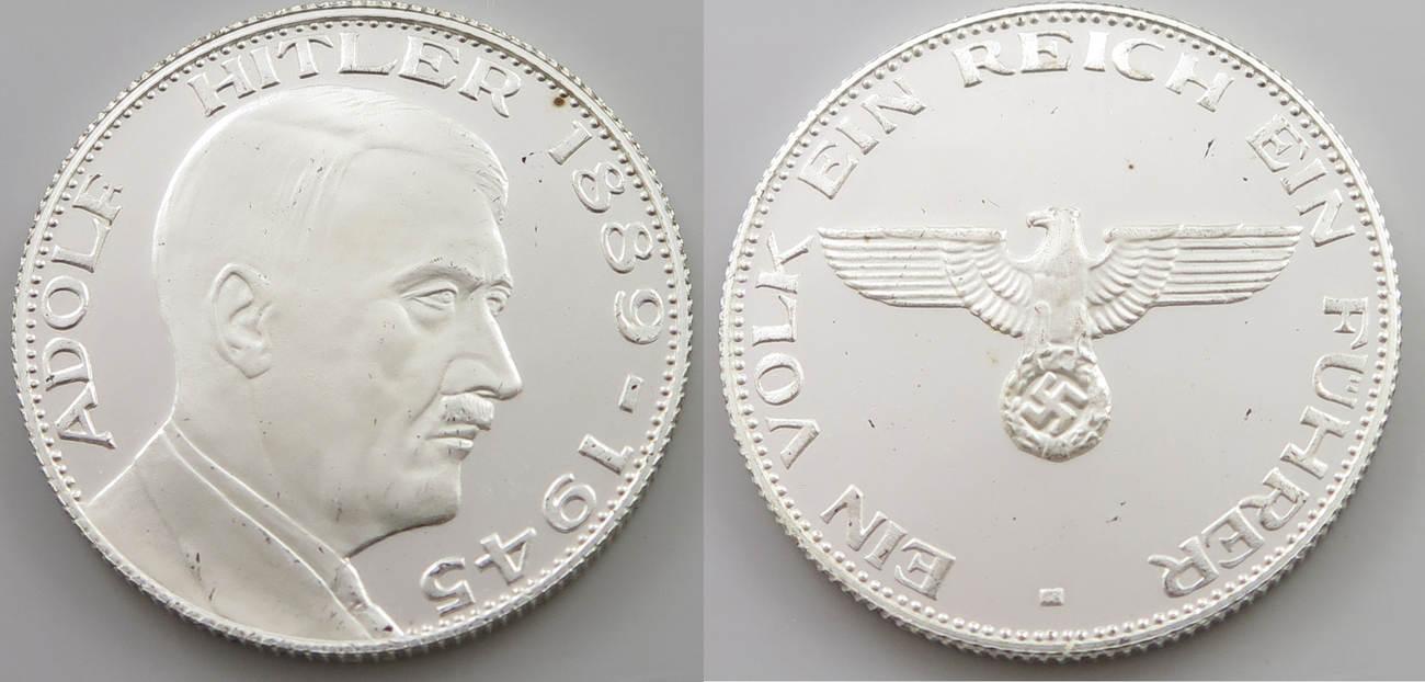 Drittes Reich Medaille Adolf Hitler 1889 1945 Pp Unc Ma Shops