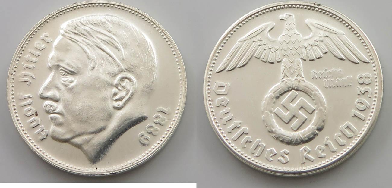 Medaille Reichsmark Drittes Reich Adolf Hitler 1889 1945 Proof