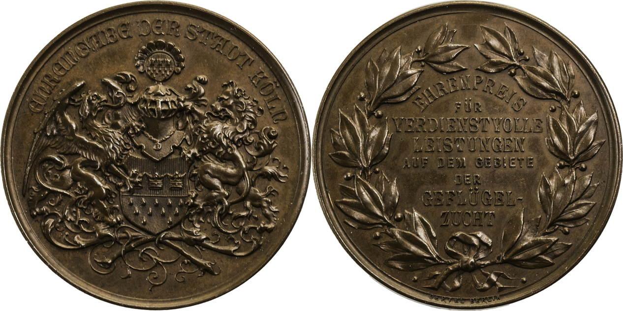 medaille um 1900 deutsches kaiserreich k ln ehrengabe f r verdienste auf dem gebiet der. Black Bedroom Furniture Sets. Home Design Ideas