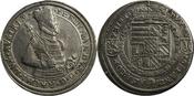 Reichstaler o. J. Römisch-Deutsches Reich Erzherzog Ferdinand (1564-1595) Hüftbild / Wappen, Ensisheim berieben, l. Fassungsspuren, ss