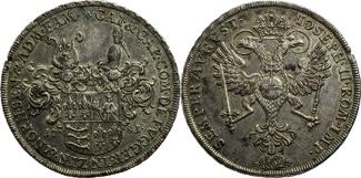 Konventions-Taler 1781 Bayern Fugger-Babenhausen, Grafschaft R!  Fugger /G. Joseph zu Zinnenberg-Adlshofen u. Joh. Carl Alex. zu Woerth-N. vz, unb. Schrtlf.