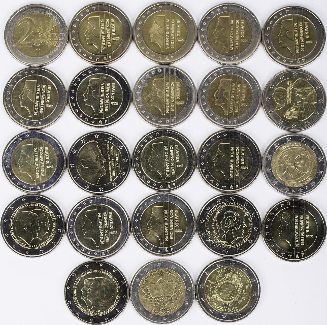 46 Euro 23 X 2 Euro 2002 2014 Niederlande Lot 2 Euro Münzen