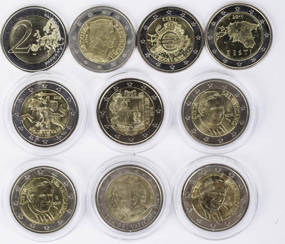 20 Euro 10 X 2 Euro 2004 2014 Euroland Lot 2 Euro Münzen Andorra