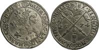 Zinnabschlag vom Reichstaler 1624 Hessen L...