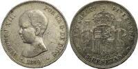 5 Pesetas 1890 Spanien Alfonso XIII / 5 Pe...