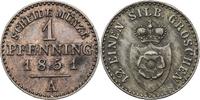 1 Pfennig 1847 A Lippe-Detmold Paul Alexan...