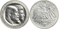 Drei Mark 1911 Württemberg Wilhelm II. u. ...