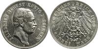 Drei Mark 1909 Kaiserreich Sachsen Friedri...