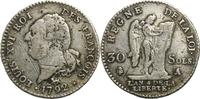 30 Sols 1792 Frankreich Münzen der französ...