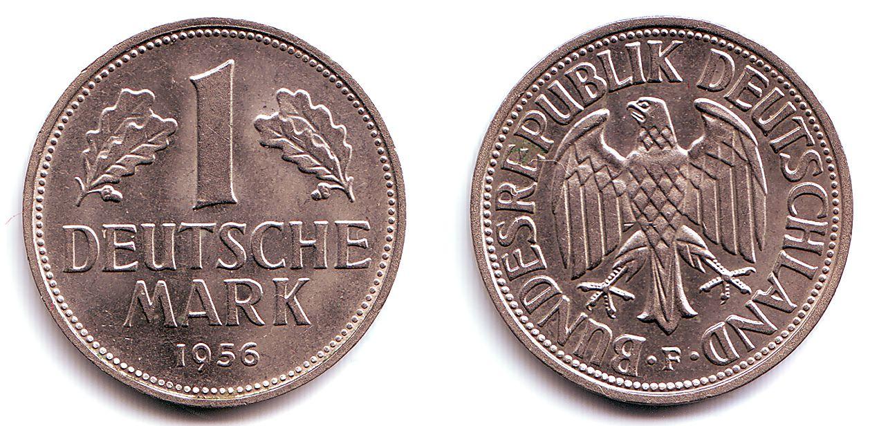 1 deutsche mark 1956