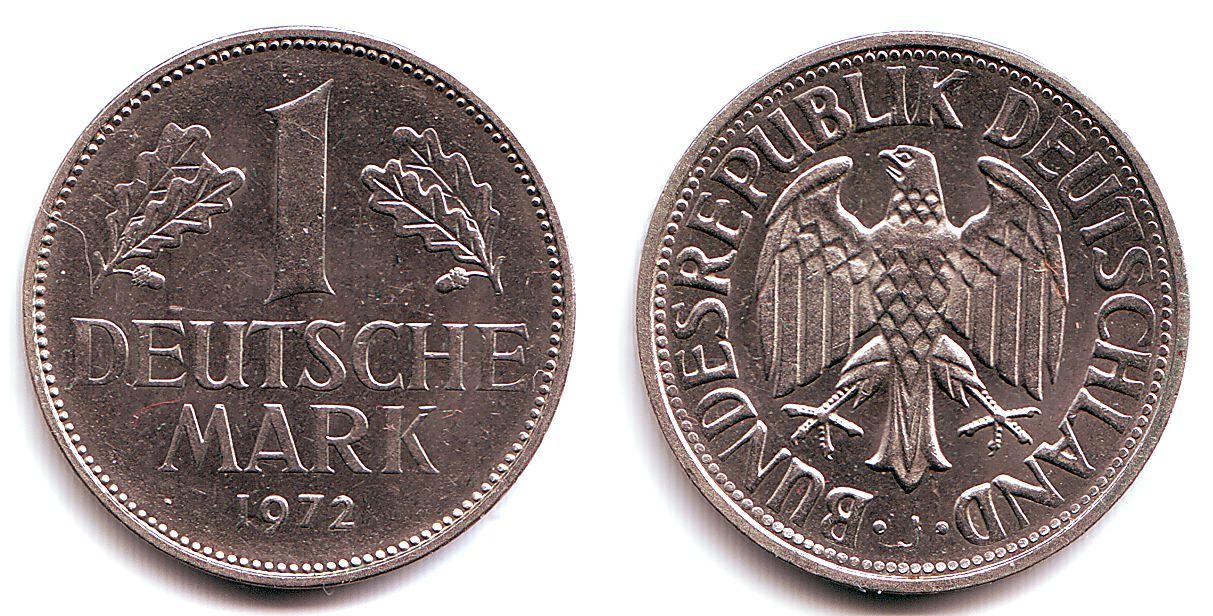 1 mark 1972 j deutschland 1 deutsche mark bu ms65 70. Black Bedroom Furniture Sets. Home Design Ideas