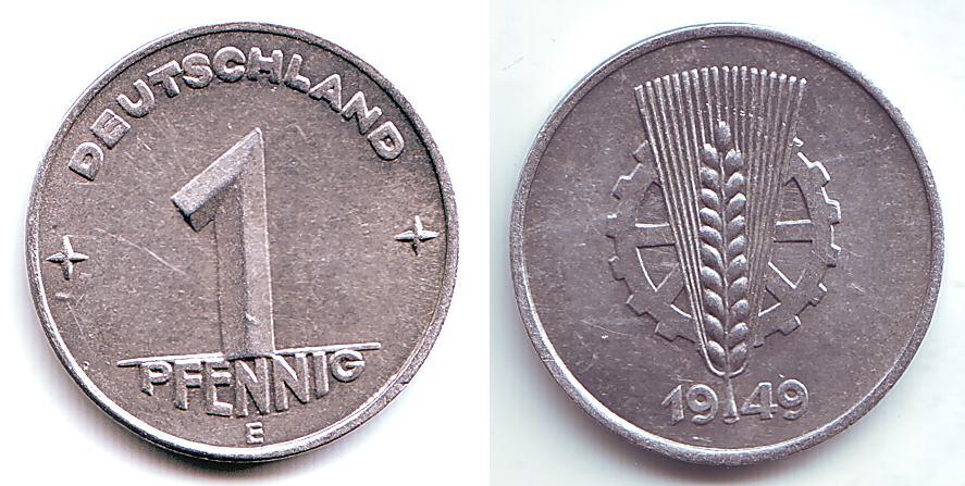 1 Pfennig 1949 E Ddr 1 Pfennig Sehr Selten Bu Ms65 70 Ma Shops