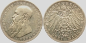 3 Mark 1908 D Sachsen-Meinigen Georg II. vz+
