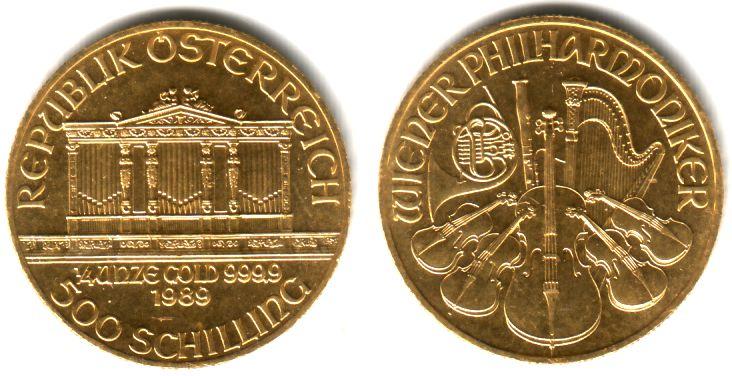 500 Schilling 25 Euro 1989 2013 österreich 14 Unze Goldmünze