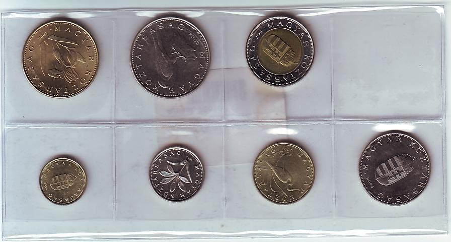 1 100 Forint Ungarn Kursmünzsatz Kms 7 Münzen Bu Ms65 70