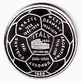 20 Riels 1989 Kambodscha Fussball Wm 1990 In Italien Fussball Weltmeister Proof
