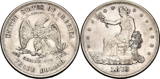 Trade Dollar 1873 S USA Trade Dollar (1873-1885) f.vz