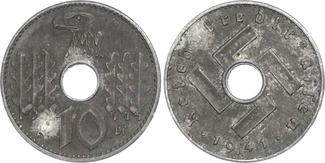 10 Pfennig 1941 A Bes. Gebiete II. WK - Reichskreditkasse 10 Pfennig der Reichskreditkasse ss/vz