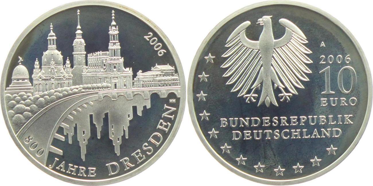 10 Euro 2006 Deutschland 800 Jahre Dresden Unc Ma Shops