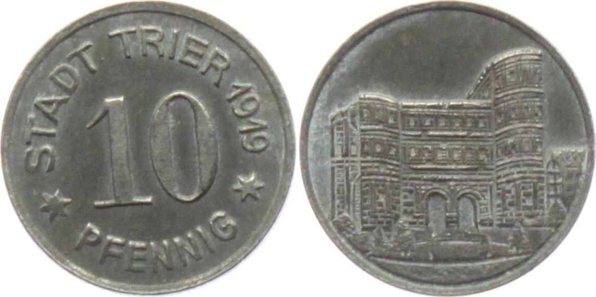 10 Pfennig 1919 Trier Notgeld Der Stadt Trier 10 Pfennig Porta