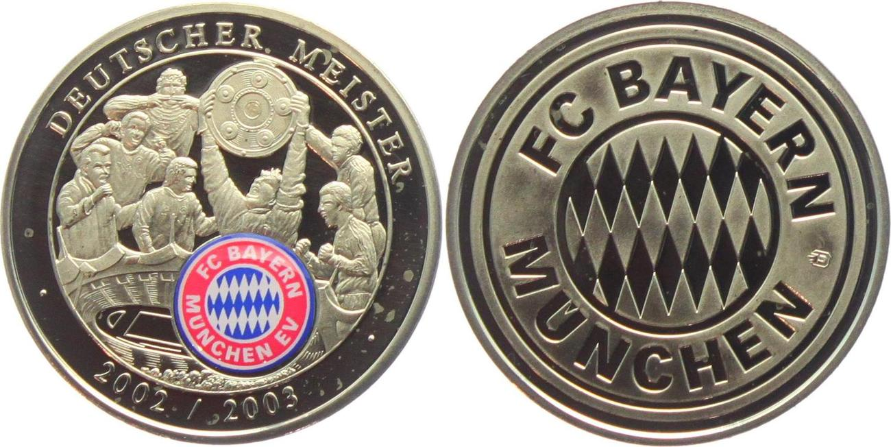 Medaille 2003 Munchen Fussball Fc Bayern Munchen Mit Farblogo Deutscher Meister 2002 2003 Proof