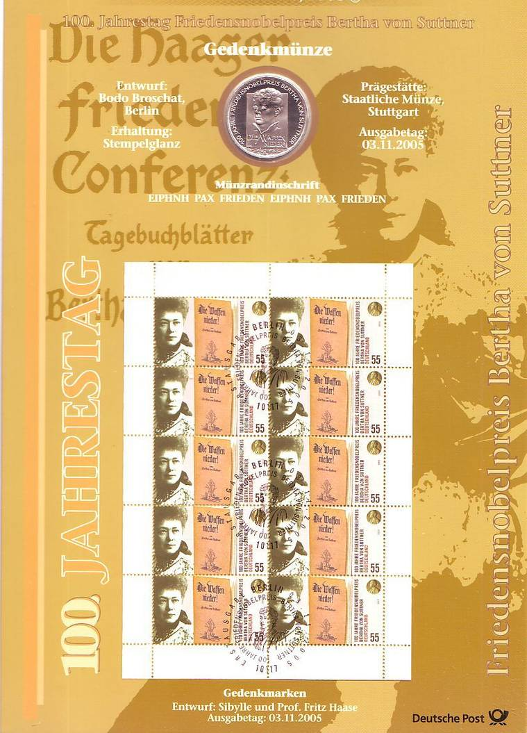 10 Euro Numisblatt 2005 Deutschland Numisblatt 52005 100