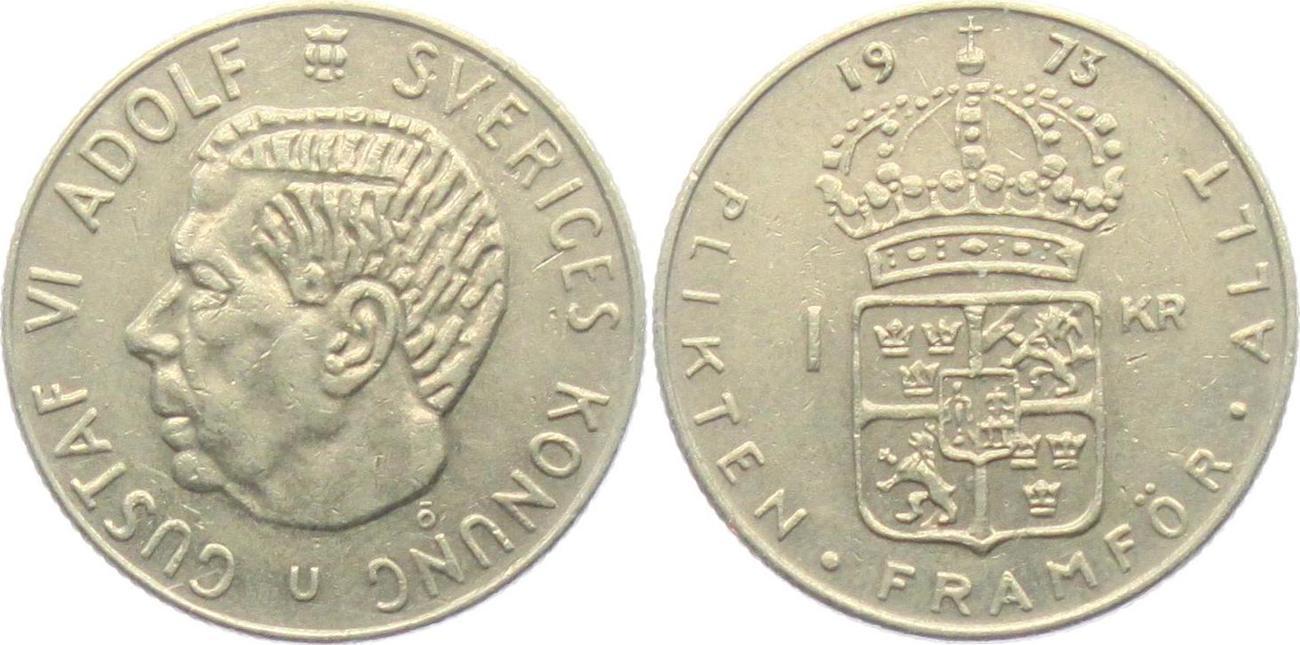 1 krone 1973 schweden gustaf vi adolf 1950 1973 vf ef ma shops