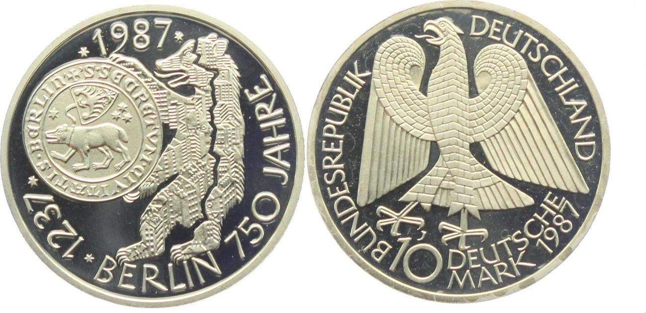 10 Dm 1987 J Deutschland 750 Jahre Berlin Proof Ma Shops